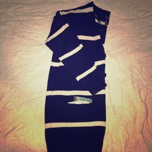 Forever 21 US S Navy Blue/White Knit Cardigan